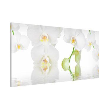 Magnettafel - Wellness Orchidee - Blumenbild Memoboard Panorama Quer