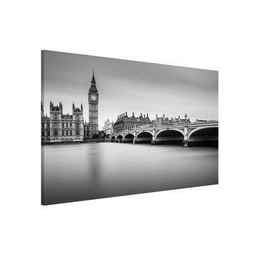 Magnettafel - Westminster Brücke und Big Ben - Memoboard Querformat 2:3