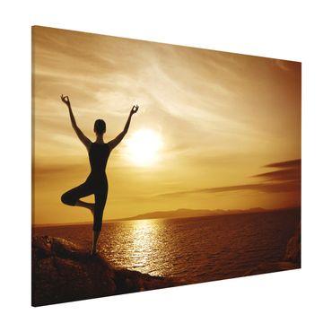 Magnettafel - Yoga - Memoboard Quer