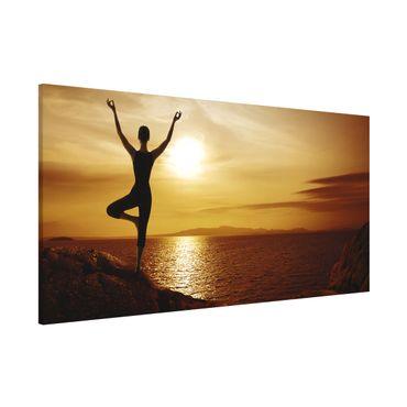 Magnettafel - Yoga - Memoboard Panorama Quer