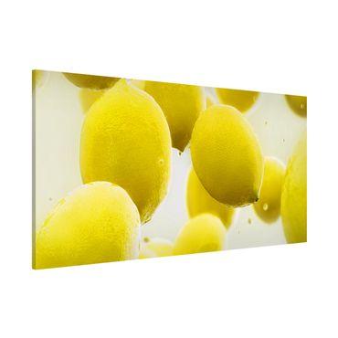 Magnettafel - Zitronen im Wasser - Memoboard Panorama Quer