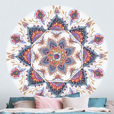 Runde Tapete selbstklebend - Mandala Meditation