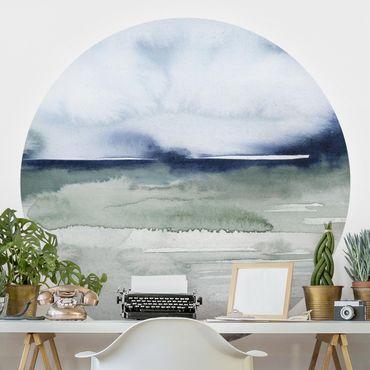 Runde Tapete selbstklebend - Meereswogen I