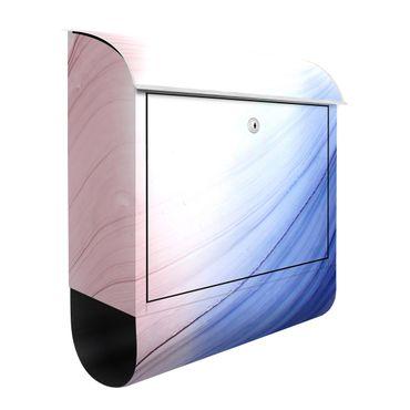 Briefkasten - Melierter Farbtanz Blau mit Rosa