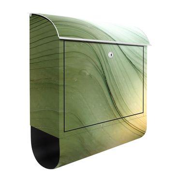 Briefkasten - Meliertes Grün mit Honig