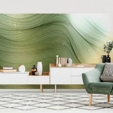 Fototapete - Meliertes Grün mit Honig