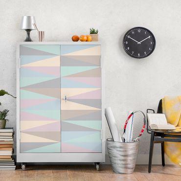 Möbelfolie - Dreiecke in Pastellfarben - Folie für Möbel selbstklebend