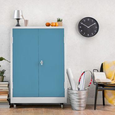 Möbelfolie blau-grau einfarbig - Meerblau - Klebefolie für Möbel - selbstklebend