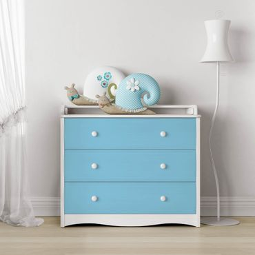 Möbelfolie hellblau einfarbig - Pastellblau - Möbel Klebefolie blau