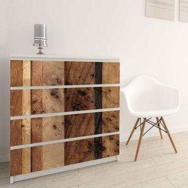 Möbelfolie Holz - Holzwand Bird - Holzklebefolie