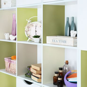 Möbelfolie Küche - Frühlingsfrische Farben - Kaschmir Macchiato Pastellgrün Bambus