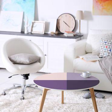 Möbelfolie lila Set - 3 violette Blütenfarben & helle Kontrastfarbe