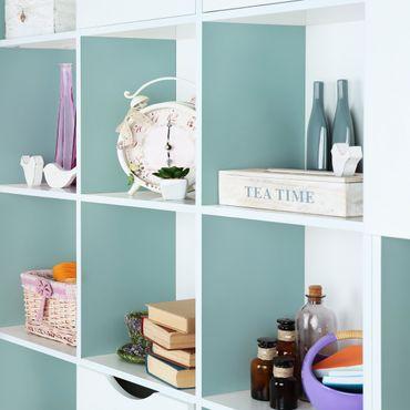 Möbelfolie pastelltürkis einfarbig - Aventurin - Klebefolie für Möbel helltürkis