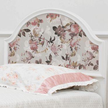 Möbelfolie - Vintage Blumen-Muster mit Rosen - Klebefolie für Möbel