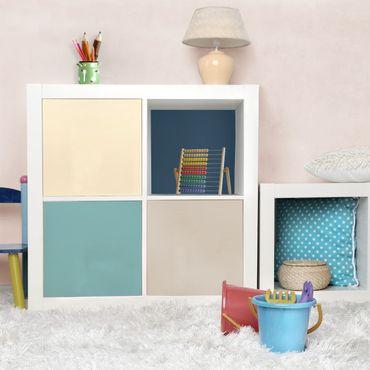 Möbelfolie - Wohnfarben Set Lagune - Kaschmir Meersand Pastelltürkis Schieferblau