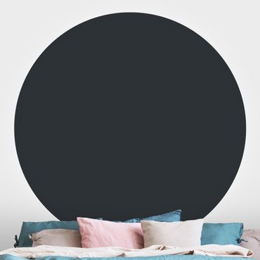 Runde Tapete selbstklebend - Mondgrau
