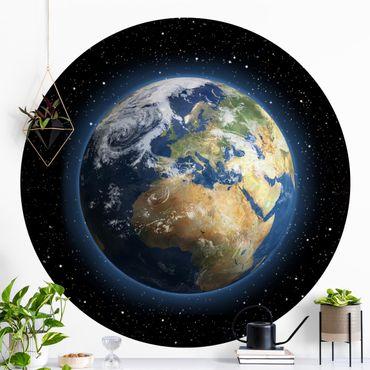 Runde Tapete selbstklebend - My Earth