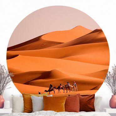 Runde Tapete selbstklebend - Namib Desert