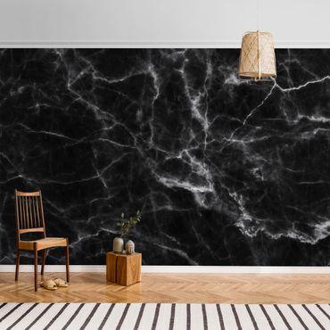 Metallic Tapete  - Nero Carrara