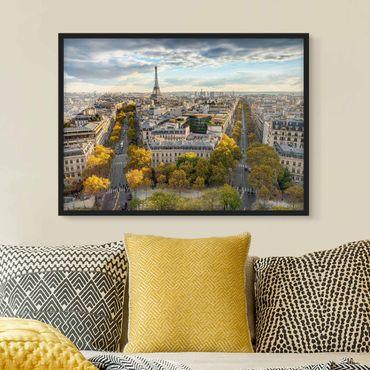 Bild mit Rahmen - Nice day in Paris - Querformat
