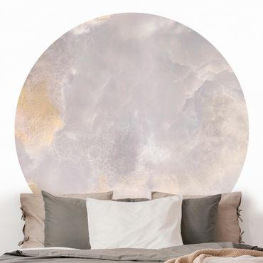 Runde Tapete selbstklebend - Onyx Marmor