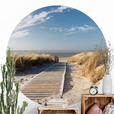 Runde Tapete selbstklebend - Ostsee Strand
