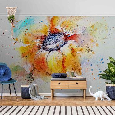 Metallic Tapete  - Painted Sunflower
