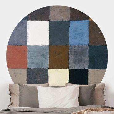 Runde Tapete selbstklebend - Paul Klee - Farbtafel