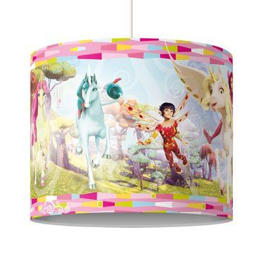 Hängelampe - Mia and me - Lampenschirm Unicorns