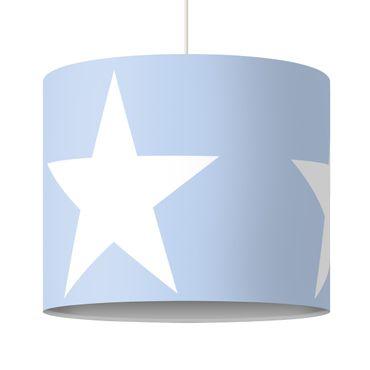 Hängelampe - Große Weiße Sterne auf Blau