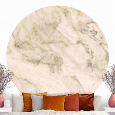 Runde Tapete selbstklebend - Phoenix Marmor