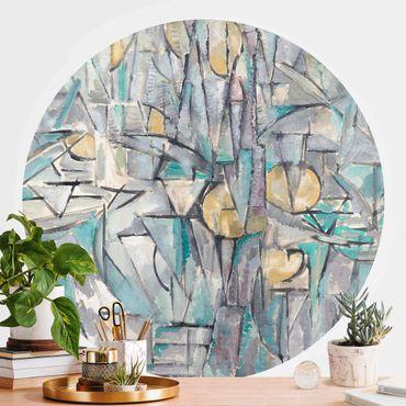 Runde Tapete selbstklebend - Piet Mondrian - Komposition X