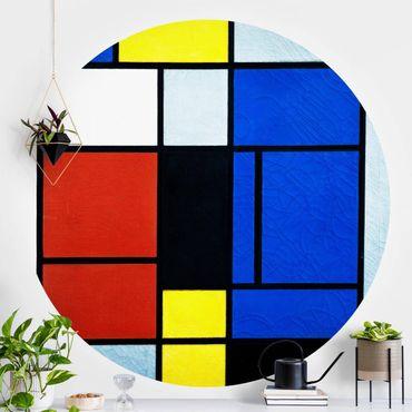 Runde Tapete selbstklebend - Piet Mondrian - Tableau No. 1