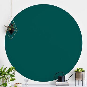 Runde Tapete selbstklebend - Piniengrün
