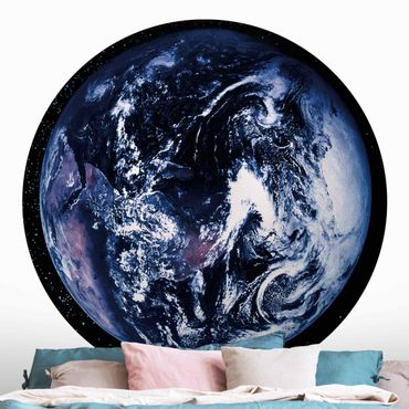 Runde Tapete selbstklebend - Planet Earth