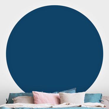 Runde Tapete selbstklebend - Preussisch-Blau