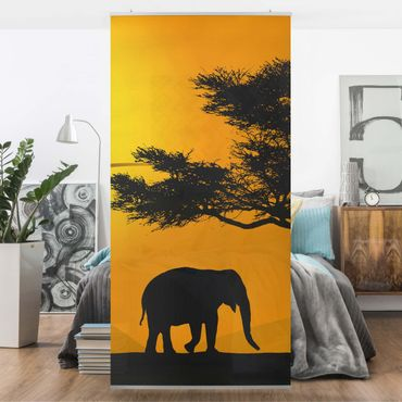 Raumteiler - African Elefant Walk 250x120cm