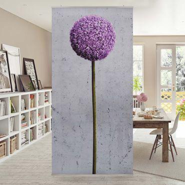 Raumteiler - Allium Kugel-Blüten 250x120cm