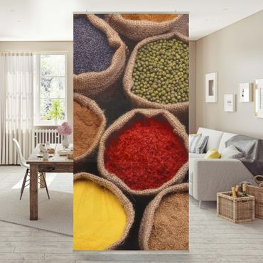 Raumteiler - Colourful Spices 250x120cm
