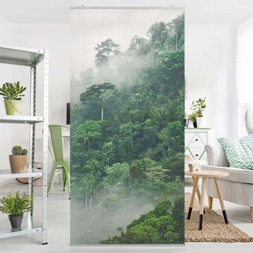 Raumteiler - Dschungel im Nebel - 250x120cm
