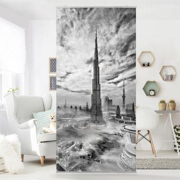 Raumteiler - Dubai Super Skyline - 250x120cm
