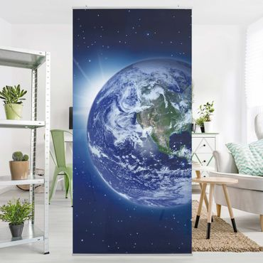 Raumteiler - Erde im Weltall 250x120cm