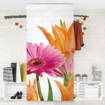 Raumteiler - Flower Melody 250x120cm