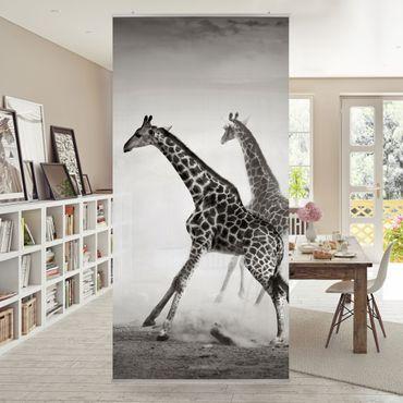 Raumteiler - Giraffenjagd 250x120cm