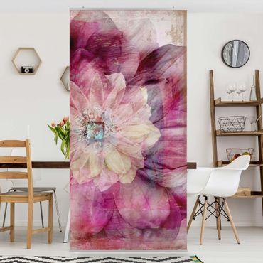 Raumteiler - Grunge Flower 250x120cm