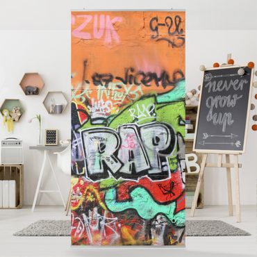 Raumteiler Kinderzimmer - Graffiti 250x120cm
