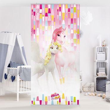 Raumteiler Kinderzimmer - Mia and Me - Einhörner Lyria und Onchao 250x120cm