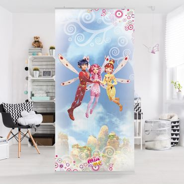 Raumteiler Kinderzimmer - Mia and Mia - Mia, Yuko und Mo Über den Wolken 250x120cm