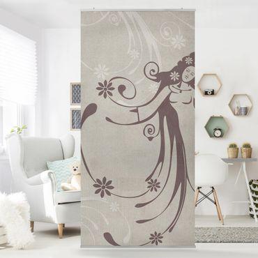 Raumteiler Kinderzimmer - No.CA7 Floral Fairy 250x120cm
