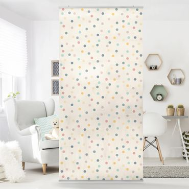 Raumteiler - Konfetti Punkte Muster 250x120cm